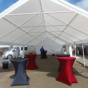 Opbouw partytent